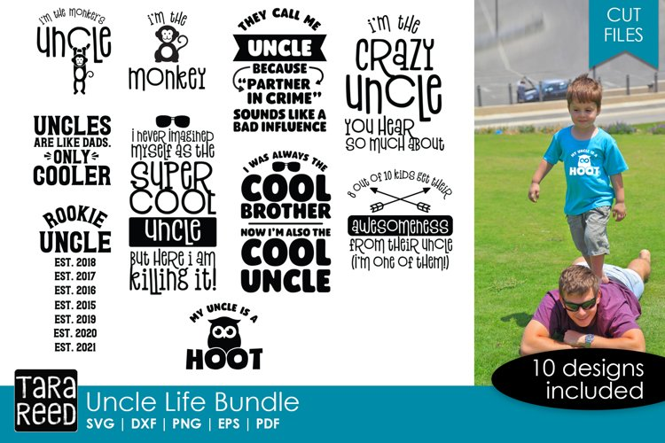 Uncle svg bundle of 10 designs for crafters
