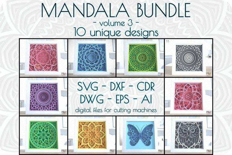 Layered mandala bundle vol 3, 3D Svg mandala bundle
