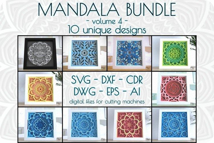 Layered mandala bundle vol 4, 3D Svg mandala bundle