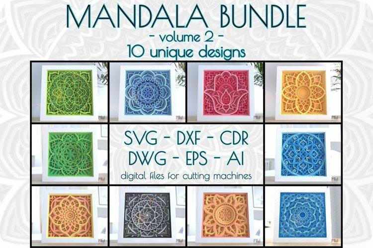 Layered mandala bundle vol 2, 3D Svg mandala bundle