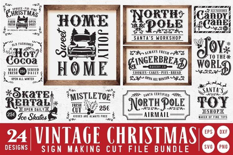 BIG!! Vintage Christmas Sign Making SVG Bundle Vol.2