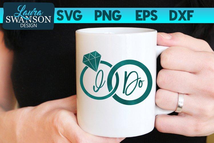I Do Wedding Rings SVG | Wedding SVG example image 1