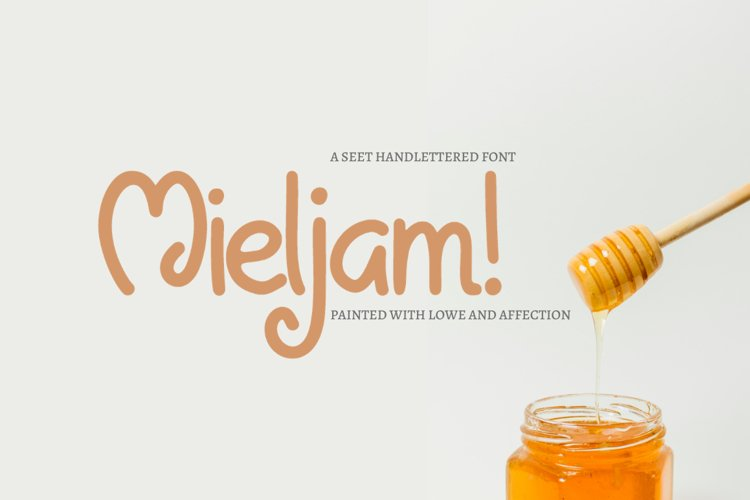 Mieljam - Hand-written Font example image 1