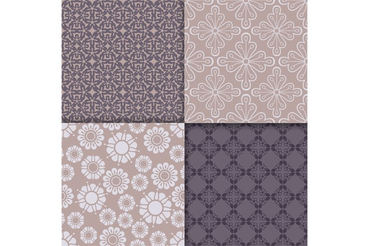 Violet and serenity geometric pattern set example image 1