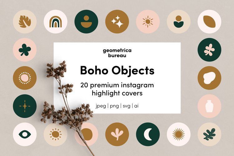 Instagram Highlight Covers Boho Objects example image 1
