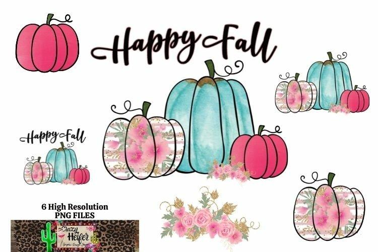 Pumpkin Fall Autumn Halloween Bundle Dye Sublimation PNG