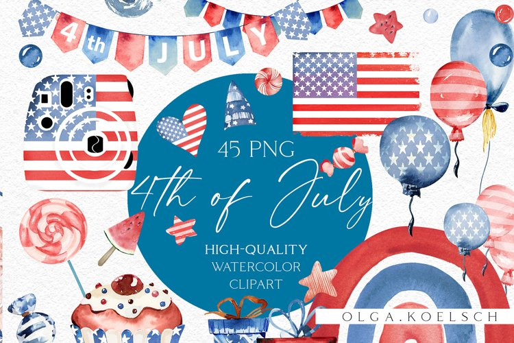 4th of July clipart, American independence day clipart 027