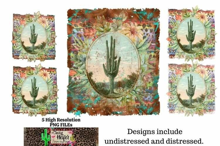 Cowboy Western Junky Cactus Vintage Retro Dye Sublimation