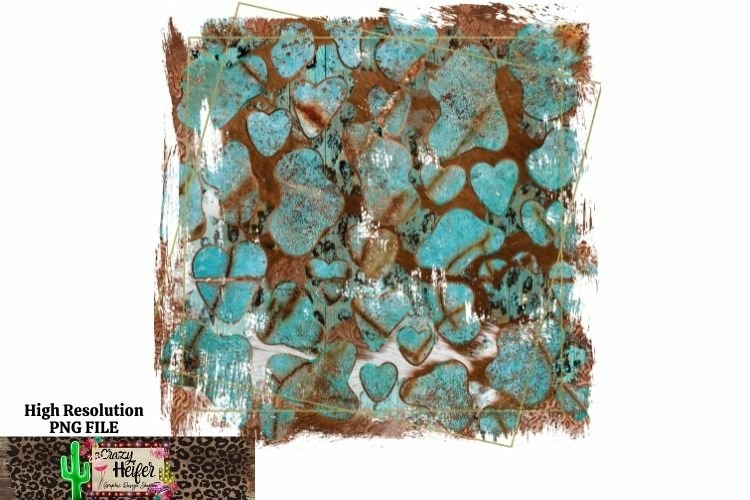 Turquoise cow hide background dye sublimation