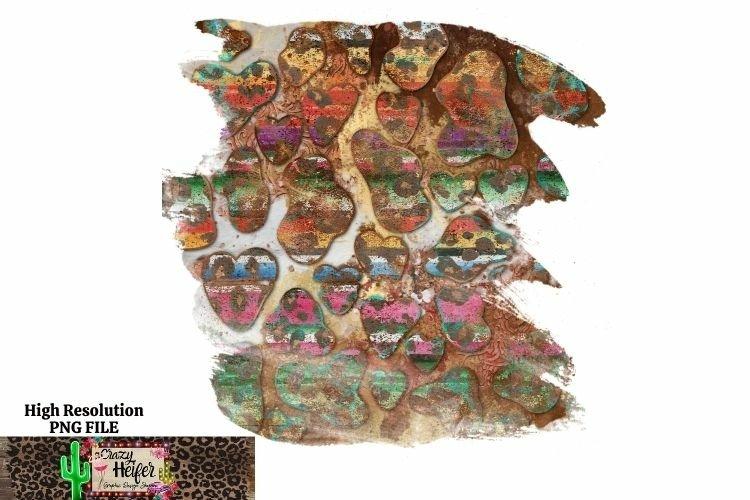Turquoise Serape cow hide background dye sublimation