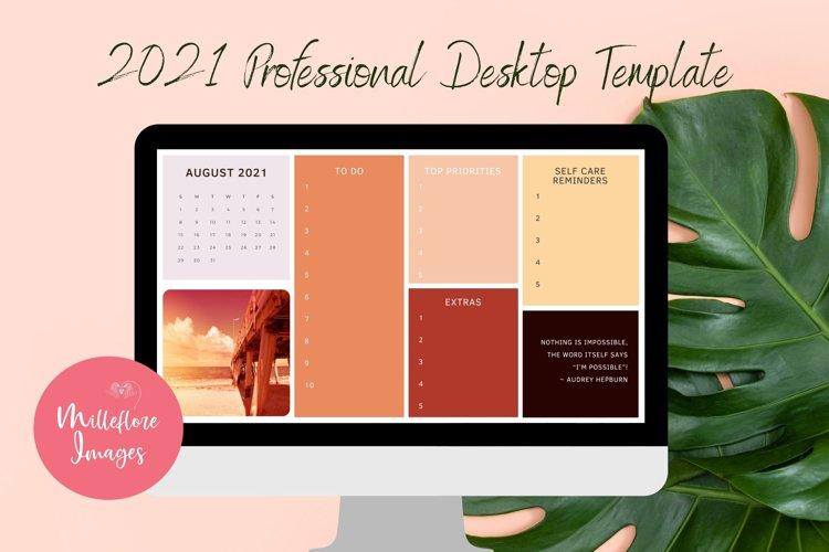 Desktop Planner. August to December 2021. Canva Template.