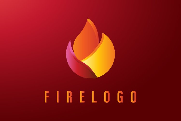 Abstract fire logo template - Eps 10 example image 1