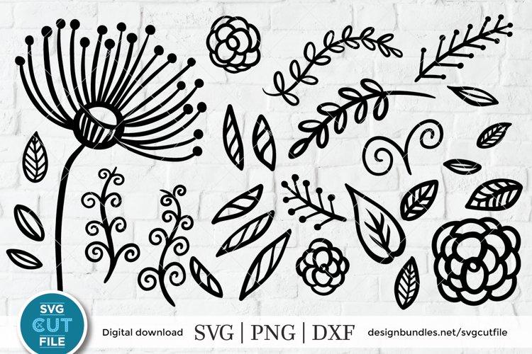 Floral svg, flourish svg, dandelion svg, flower svg bundle example image 1