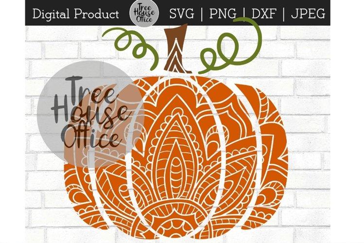 Pumpkin Mandala Fall Zentangle Thanksgiving SVG PNG JPEG ...