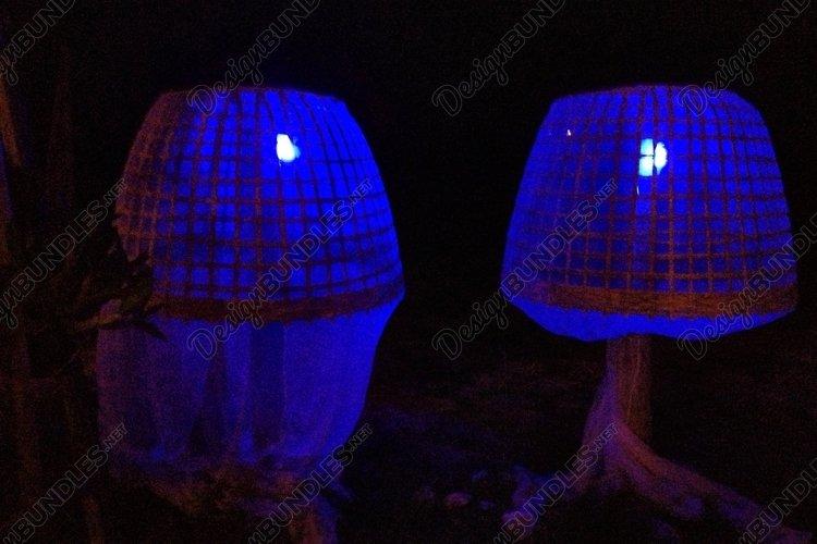 Magic blue night lights somewhere in Thailand