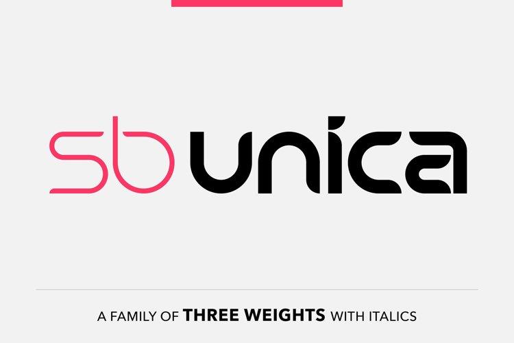 SB Unica - Curved Sans Serif