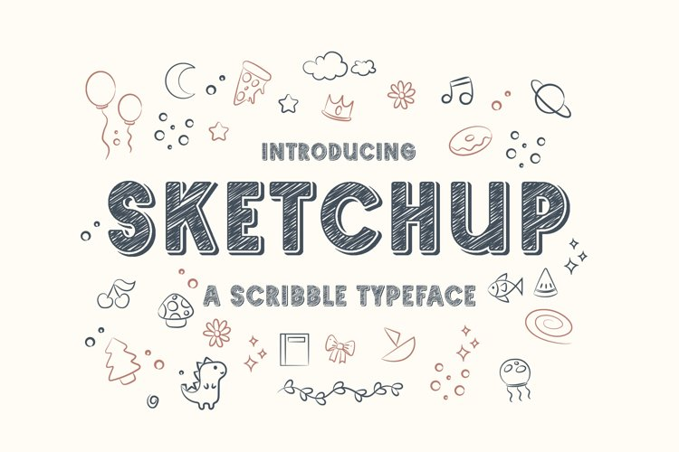 Sketchup - Adorable Scribble Typeface