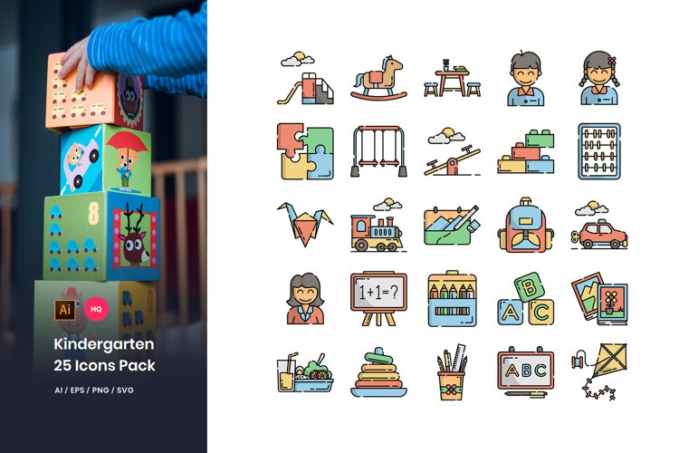 Kindergarten Icons Pack example image 1