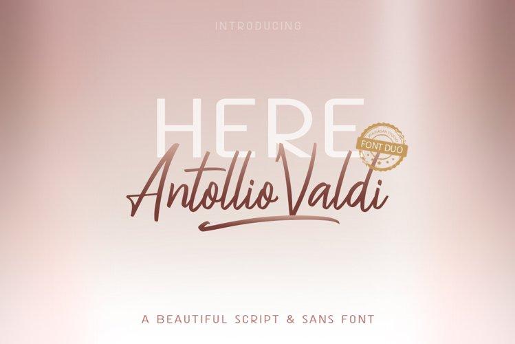Here Antollio Valdi Font Duo example image 1