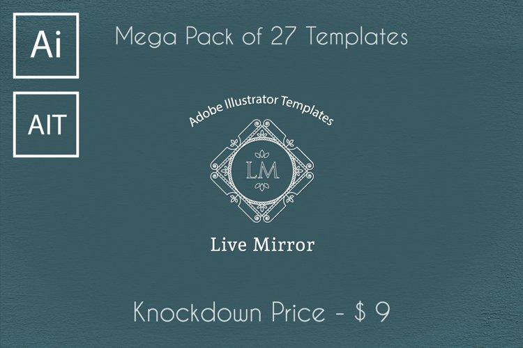Live Mirror Illustrator Templates