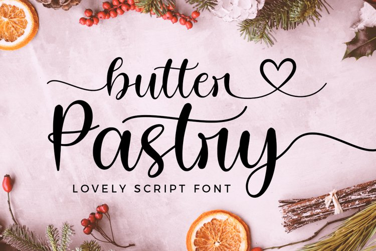 Butter Pastry Lovely Script Font example image 1