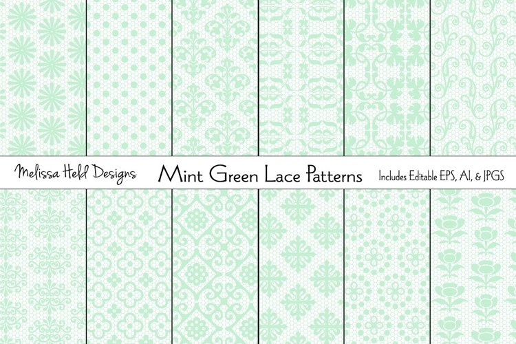Mint Green Lace Patterns