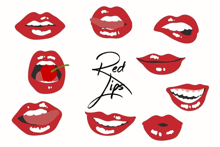 9 Red Hot Lips Graphics example image 1