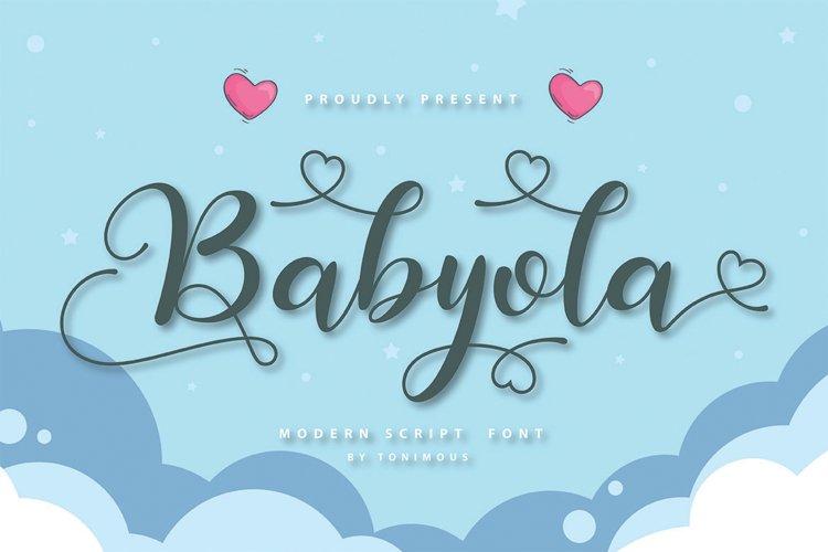 Babyola example image 1