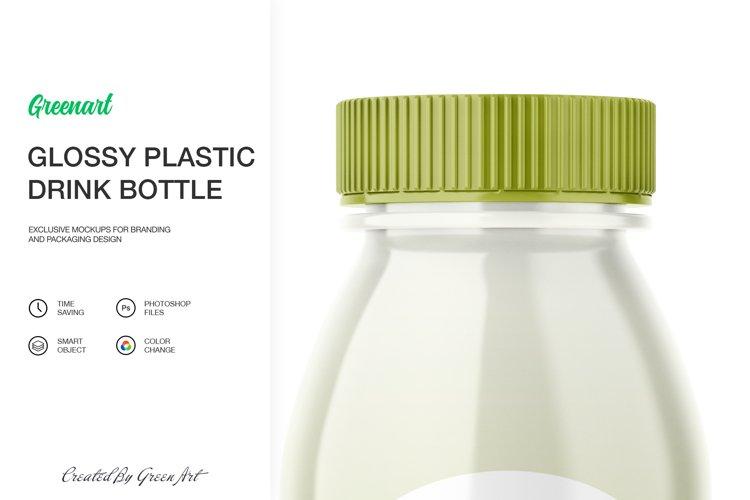 Glossy Plastic Bottle Mockup example 6