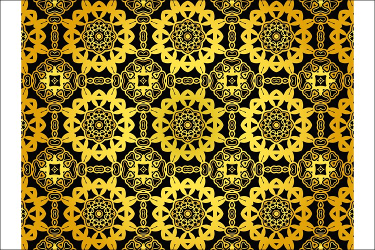 Pattern Abstract Gold Color Design example image 1