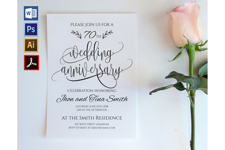 Wedding Anniversary, TOS_62 example image 1