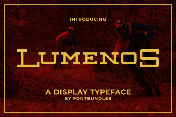 Web Font Lumenos example image 1