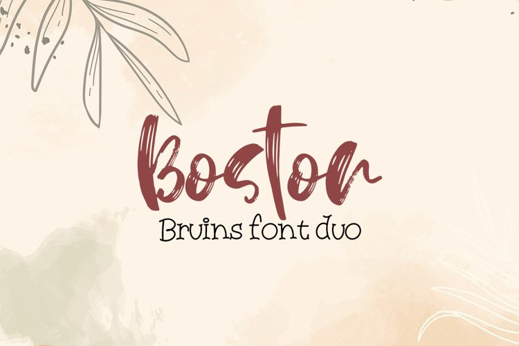 Boston Bruins font duo example image 1