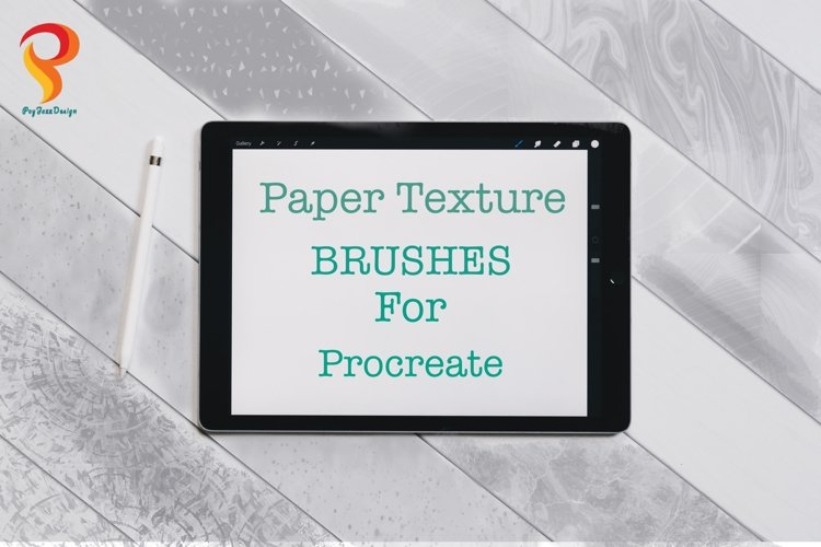 Paper Texture Brushes Procreate example image 1