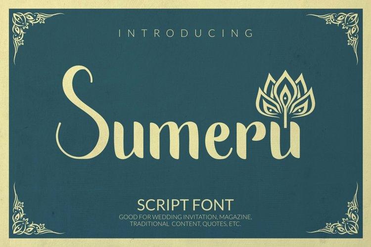 Web Font Sumeru Font example image 1