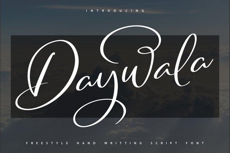 Daywala   Handwritting Script Font example image 1