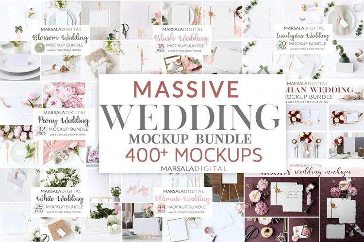 Wedding Mockup Bundle 400 Massive Wedding Mockups Bundle