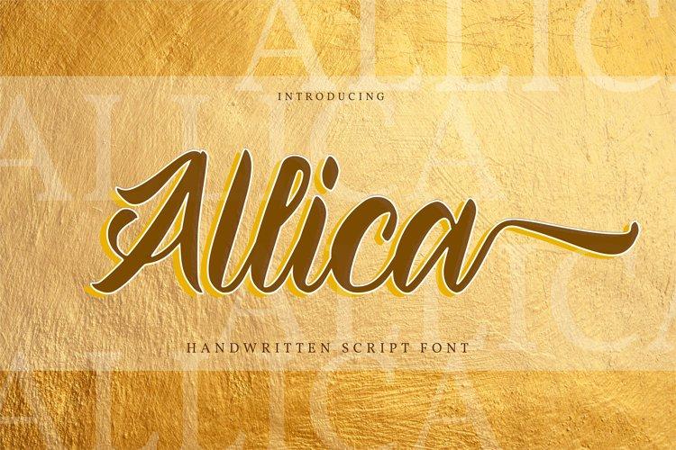 Allica - Handwritten Script Font example image 1