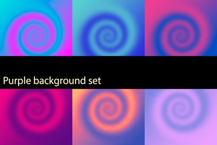 Purple background set example image 1