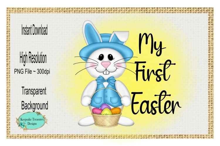 My First Easter, Boy, Sublimation Design