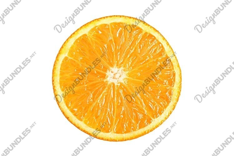 Stock Photo - Ripe cut tangerines top view isolated example image 1