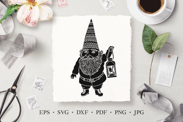 Gnome Vector Stencil Illustration Cut Clipart SVG