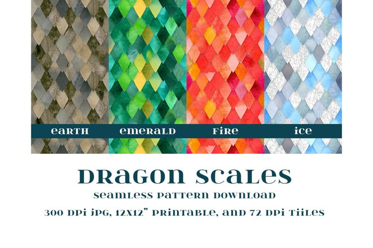 Dragon Scales Seamless Pattern