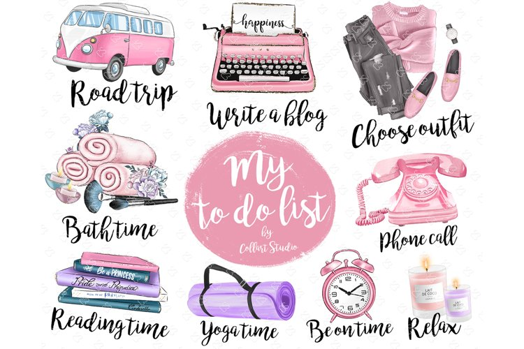 Planner Icons Clip Art, To Do List Icons, Planner Stickers example image 1