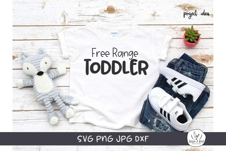 Free Range Toddler Funny Kids SVG