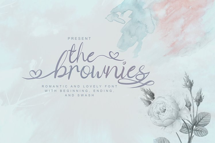 The Brownies | Romantic Love Font example image 1