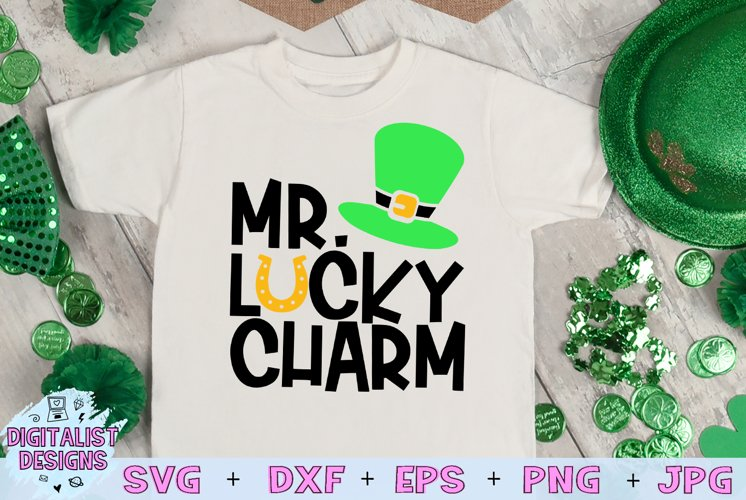 St. Patrick's Day SVG | Mr. Lucky Charm SVG | Horseshoe example image 1