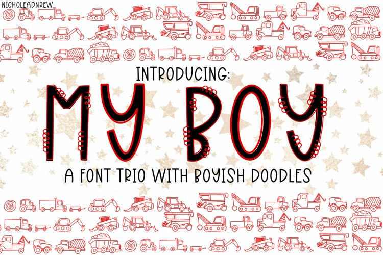 My Boy - A Font Trio With Boyish Doodles example image 1