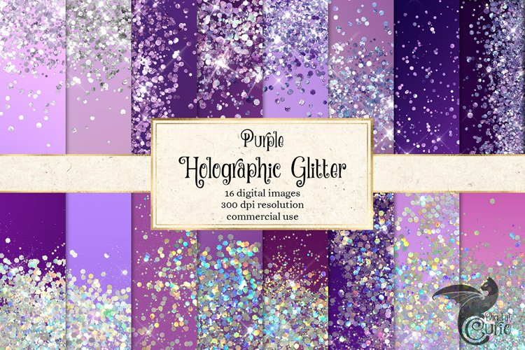Purple Holographic Glitter Backgrounds