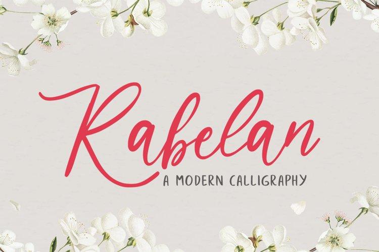 Rabelan Script example image 1